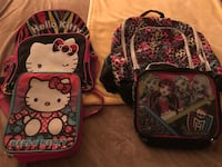 Backpack w lunch bags $5 a set hello kitty sold have the other one left  Clovis, 93612