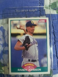 Randy Johnson score 89 trade card