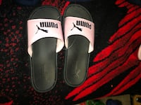 Black and Pink Puma Slides / Slippers / Sandals Lincoln, 95648