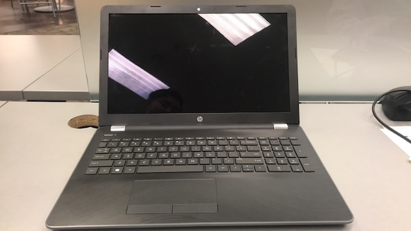 Matte grey and black hp laptop   Windows 10 and touch screen  12 compute  cores