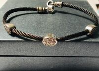 Black and silver wire bracelet Silver Spring, 20904
