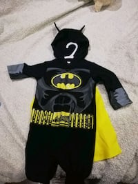 Black and yellow batman costume 12 -18 months.  Brampton, L6S 2E2