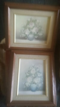 white and brown wooden framed painting of flowers Peterborough, K9J 6N6
