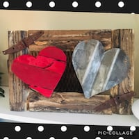 Reclaimed wood/metal hearts  Saint Clair Shores, 48081