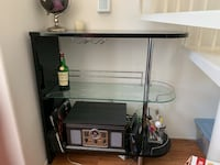 3 layer bar with cup holder with glass top.  Easily disassembled no scratches mint condition bar.  Has only been in the household for 6 months and was $450 brand new.  Don't miss out on this man cave Necessity.   Los Angeles, 90046