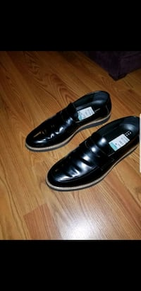 pair of black leather slip-on shoes Washington, 20001
