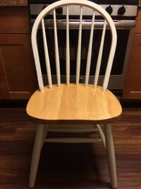 white and brown wooden windsor chair