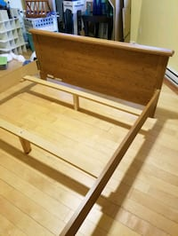 Wood Bed Frame Double  Montreal