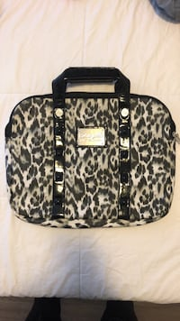 Black and white leopard print Betsy Johnson laptop tote bag  Mississauga, L5G