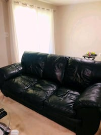 Black Leather Couch and Loveseat Fairfax, 22032