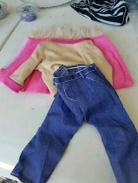 toddler's blue and pink pants