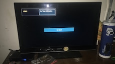 black flat screen TV