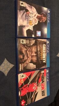 Three assorted ps4 game cases Toronto, M6A 1J1
