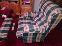 white, blue, and red plaid sofa chair Tobyhanna, 18466