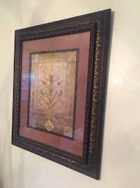 brown wooden framed painting of flowers HOUSTON
