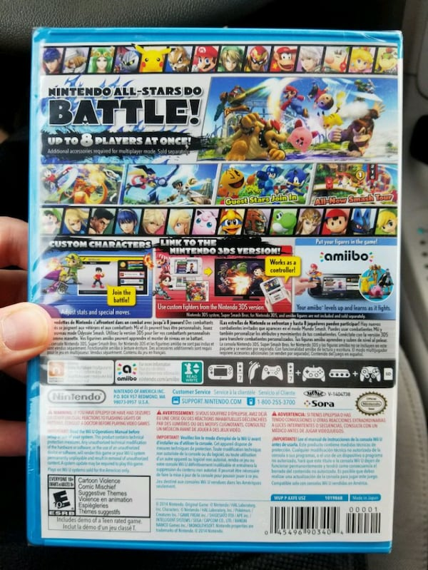 Super Smash Bros Wii U - NEW UNOPENED 91a5d819-7f30-4b14-b2ae-14e0be68b5a7