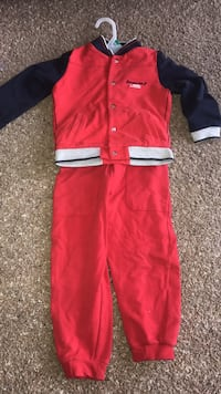 red and white zip-up jacket and pants Kissimmee, 34746