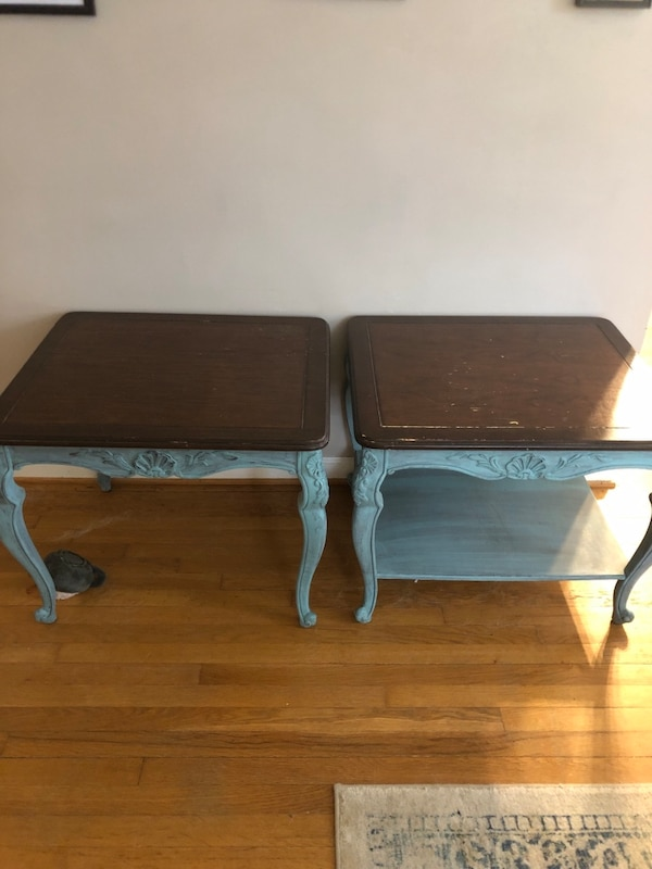 2 matching Chalk Painted Side tables