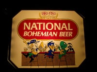LIGHTED BEER SIGN NATIONAL BOHEMIAN BOH 21784