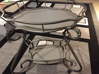 Decorative metal frame, tea table or side table or tray table on wheels Calgary, T2J 2W2