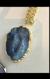 blue stone gold-colored necklcae Calgary, T2S 3G5