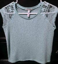Sheer Lace Sleeve Top - Small Red Deer, T4P 0B6