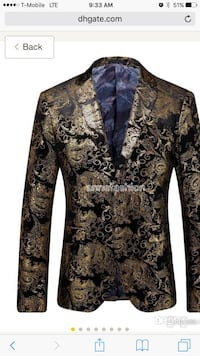 brown and black floral notch lapel suit jacket Upper Marlboro, 20774