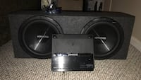 """2 Kenwood 12"""" Subwoofers With Amp (one sub is cracked) Chamblee, 30341"""