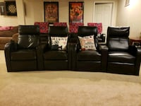4 reclining theater chairs Black La Plata, 20646