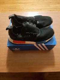 pair of black Adidas high-top sneakers with box Côte Saint-Luc, H4W 1G9