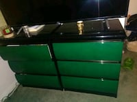 Two green and black bed side dressers  Ventura, 93003