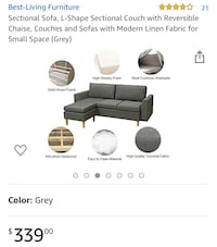Reversible Sectional Sofa Silver Spring, 20910