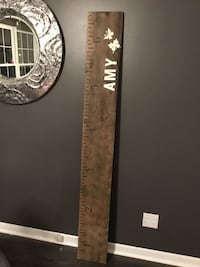 6ft personalized growth chart.Any color, wood/lettering.48 hrs.Deliver St Catharines, L2P 3K9