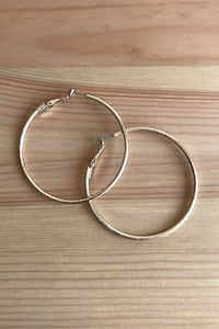 Large Skinny Hoop gold earrings  Occoquan, 22125