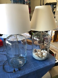 two white and gray table lamps Jacksonville, 32224