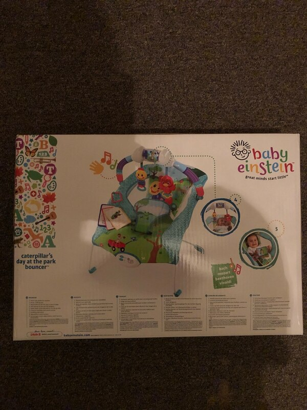 2536c51161ed Used Baby Einstein - Caterpillars Day at the Park Bouncer for sale ...