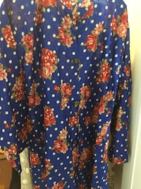 blue, red, and white floral textile Brampton, L6V