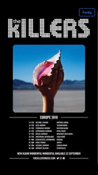 The Killers band plakat Grimstad, 4876