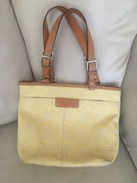 Authentic Yellow Coach Tote $100