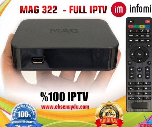 Used MAG 322/322 TV ser tab BOX % de 100 İPTV for sale in Karatay