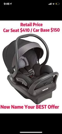 Maxi Cosi Car Seat for Sale with Free Base Adapter  Richmond Hill, L4E 0S5