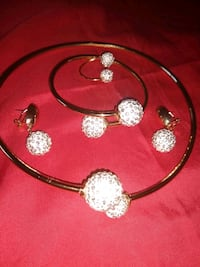 silver and gold necklace set New Hope