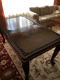 Solid Wood Antique Dining Table w/ Leaf and Glass Top Lincolnwood, 60712