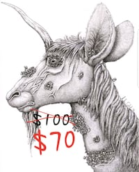 Original Unicorn Artwork  Kingston, 18704