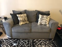 gray suede 2-seat sofa Bowie, 20716