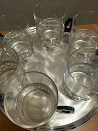 Kim Silver Plated 6 Glasses & Tray Mississauga, L5N 2X2