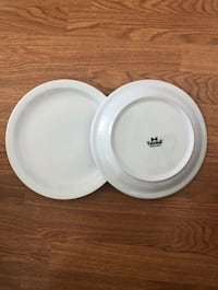 New tuxton china plates , 10.5in diameter, heavy duty - 5 plates -  all plates  for $10 Fremont, 94555