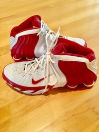 White-and-red Nike Shox basketball shoes Avon, 46123