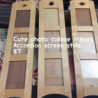 three brown wooden collage photo frames 1817 mi