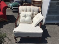 Grand divan 4 places et chaise Louis 16 / 4 seater couch and chair Louis 16 in mint condition
